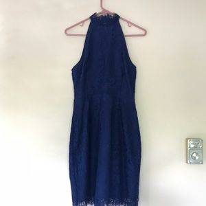 NWT Beautiful dark navy blue lace dress